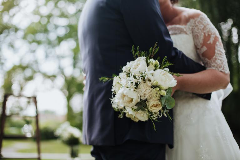 Moment intime des mariés