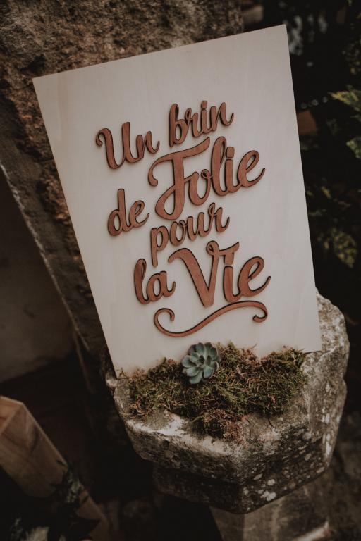 Tableau thème du mariage au Château-Bas d'Aumelas