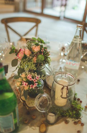Composition florale de la table