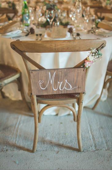 Chaise de la mariée