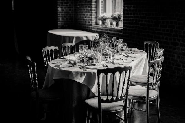 Décoration table des invités