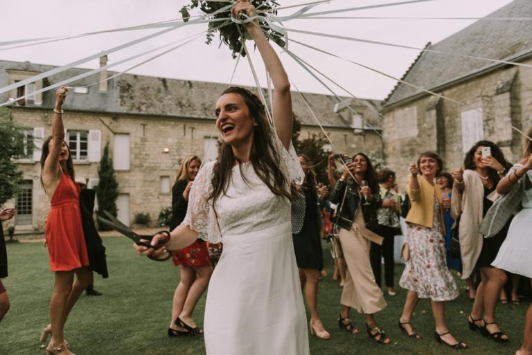 Bouquet de mariée à rubans