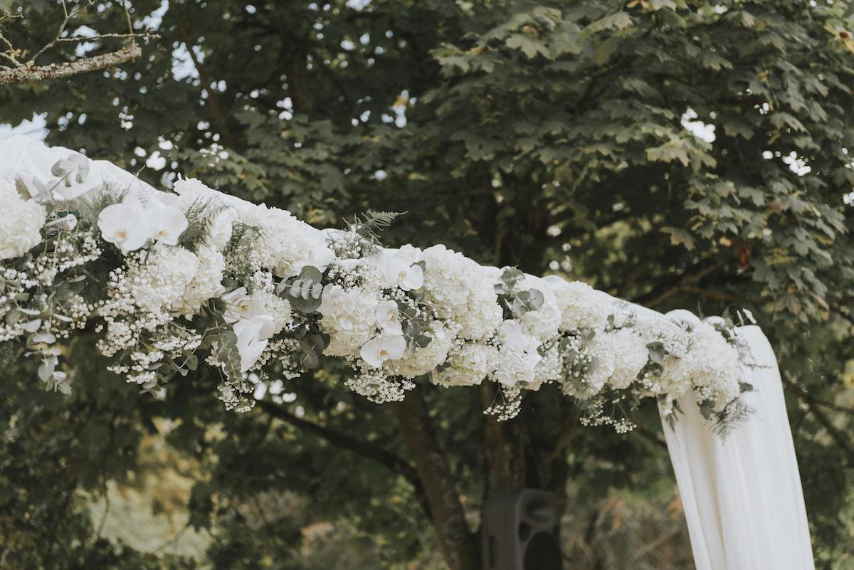 Arche fleurie hortensia