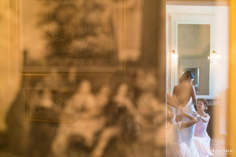 Préparatifs robe de mariée
