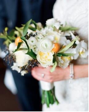 Bouquet rond organisation de mariage les demoiselles de madame